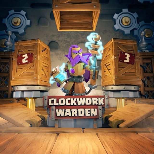 It's time for an all-new Season of Challenges! Complete multiple challenges, win a bunch of rewards, and unlock the ⚙️ Clockwork Warden ⚙️ skin with April's Gold Pass - the first Hero skin in the Clashy Constructs set! #clashofclans #clash #clashon #coc #seasonchallenges #clockwork #clockworkwarden  #grandwarden #newskin #april
