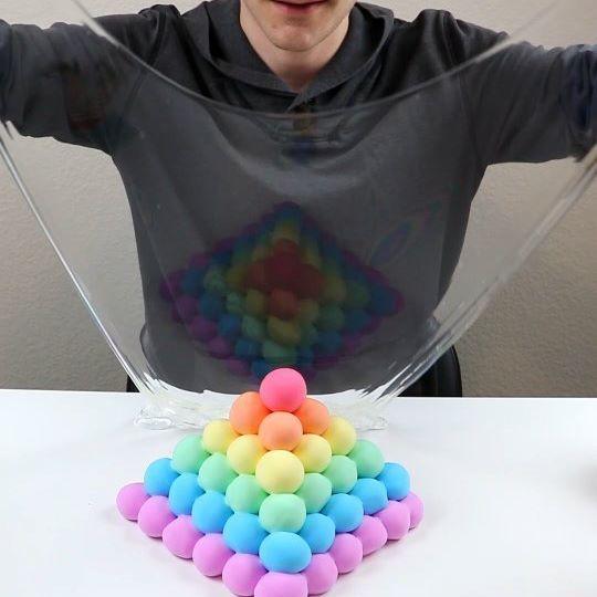 Rainbow Clay Pyramid!