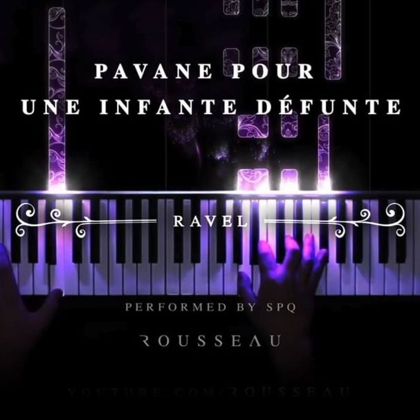"""Ravel. Pavane pour une infante défunte. An incredibly lyrical and reflective piece, the melody at 1:13 followed by the undulating circle of 5ths cadence is personally one of my few favorite moments in the entire classical repertoire. Although the piece is seemingly dedicated to a princess who has died (we would assume recently), Ravel intended this to be more a thought back to a princess who had lived a long time ago, calling it """"an evocation of a pavane that a little princess might, in former times, have danced at the Spanish court"""". Although this piece was originally written for piano, Ravel's orchestration - written 10 years after the original - would go on to become one of his most famous orchestrations, and is a good testament to how orchestral his piano writing was - I can still hear the sound of an oboe clearly at 1:13. I hope you enjoy this beautiful recording by SPQ, and that you've had a happy and healthy start to your March ♥ #piano #pianocover #classicalpiano #classicalmusic #pianist #music #rousseaumusique #ravel #pavane #rousseau"""