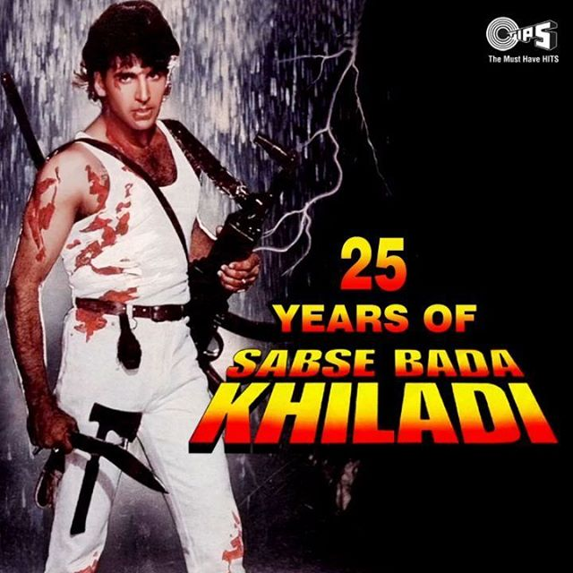 "Join in the celebrations for @akshaykumar and #MamtaKulkarni's film 'Sabse Bada Khiladi' as it completes 24 years of release today! Enjoy one of the most popular songs from the film – ""Bholi Bhali Ladki"" here!  #24YearsOfSabseBadaKhiladi #AkshayKumar #Bollywood #Action"