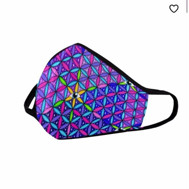 Now available in my shop. #facemask #ravemask #festivalmask #etsy #sacredgeometry