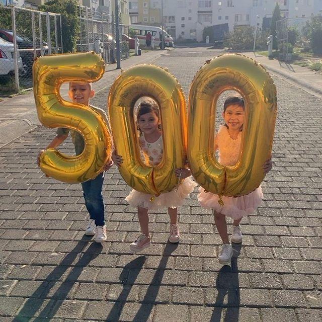 Guzmancitos ya somos 500 mil!!!! 😍😱😜 gracias por todo su apoyo 😊 #Guzmancitos #youtube @youtube