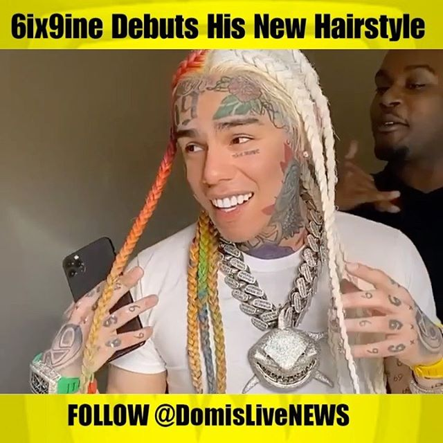 What do y'all think about 6ix9ine's new hairstyle ?