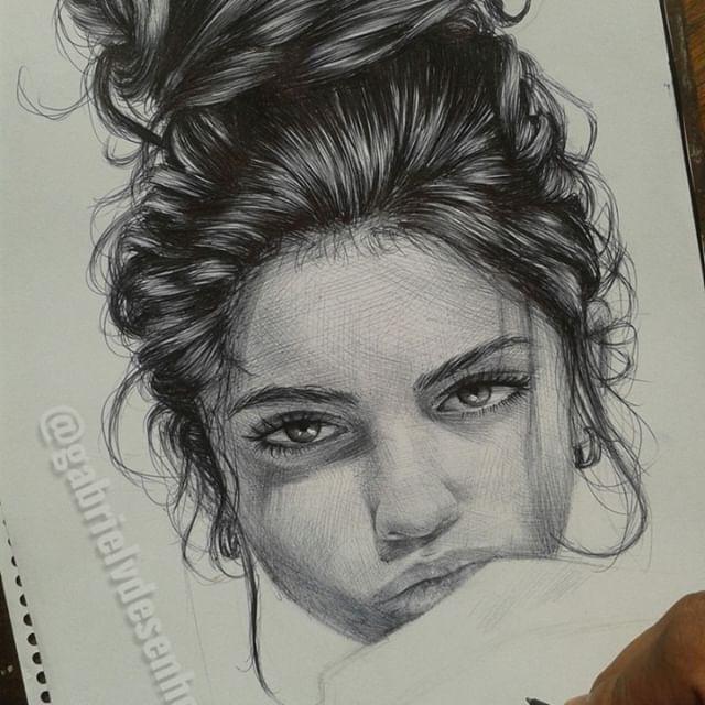 Em andamento com caneta Bic /In Progress ballpoint pen #art #artistic #drawing #artist