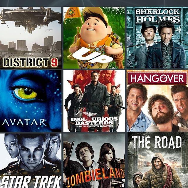 These are our picks for best movies of 2009! Which ones were your favorites?