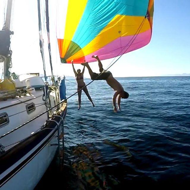 Splaaasssh! Oh, how I miss this 💙🧜🏼♀️💦 . . . #oceanswim #oceancrossing #liveyouradventure #lifeatsea #offshorelife #sailingaroundtheworld#sailingtime #openocean #sailboat #sailorgirl #sailorlife #livesimplelivebold #nomadlifestyle #mermaidlife #deepbluesea#mermaidlifestyle #fulltimetravel #floatinghome #exploremoreoutdoors #offthebeatenpath #liveaboard#wanderlusting #oceanlove