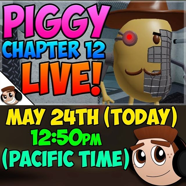 Streaming Chapter 12 LIVE on my YouTube channel (100k subs): ErnieC3. #roblox #robloxpiggy #piggyroblox #piggyalpha #piggy #piggychapter12