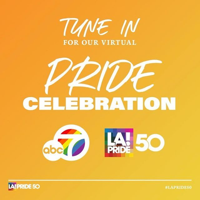 Join us & @abc7la in partnership with @iheartradio in celebrating LA's first-ever virtual Pride Parade on June 13th at 7:30pm - a primetime event hosted by @abc7ellen @abc7brandi @ravensymone featuring our LA LGBTQ+ community, small businesses & our local unsung heroes.  You won't want to miss special performances & appearances by our friends (to name a few...) @bobthedragqueen @hayleykiyoko @lancebass @leedaniels @greysonchance @nevecampbell @thealexnewell @amaralanegraaln @thelesliejordan @theprettymess @pussycatdolls.  Keep following #LAPride50 as we announce our full lineup leading up to June 13th!