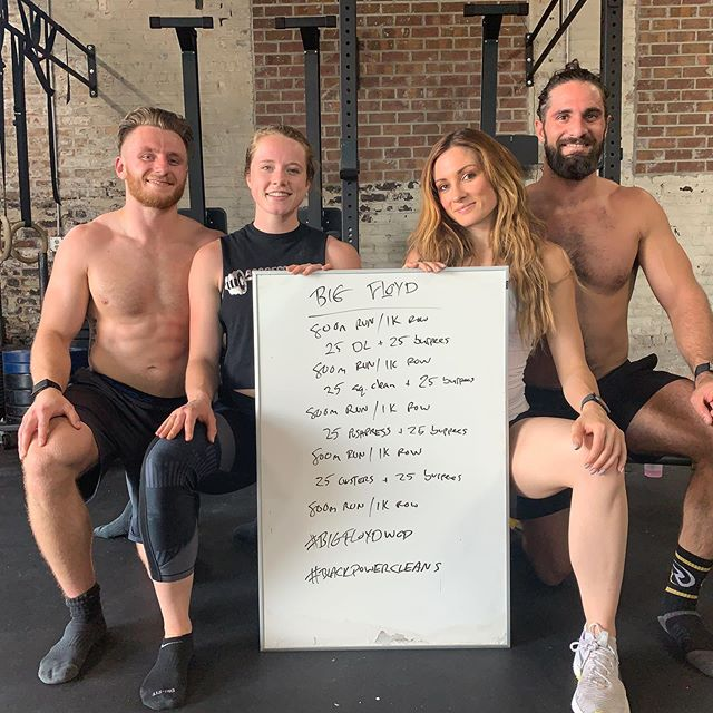 #bigfloydwod today with @wwerollins @abbie.hoeg  @thetravistitan  #blacklivesmatter #blackpowercleans