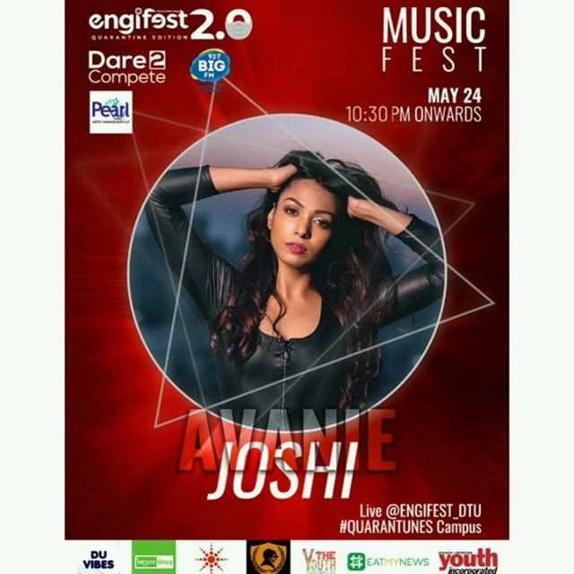 See me live at 10.30 today only on @engifest_dtu in collaboration with @_pearl_team , @bigfmindia & @dare2compete .  #livemusic #music #bollywood #fun