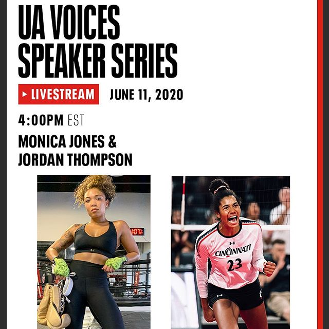 Join us for UA Voices, our new speaker series for Under Armour athletes to have honest conversations and share their vision for creating equity in sports and beyond. Check back here tomorrow, June 11 at 4 p.m. EST, for an IG Live with @jtomm19 and @trainwithmon.