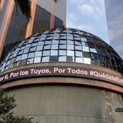 En #LaBolsaDeMéxico queremos verte pronto, para que eso suceda, por favor, #QuédateEnCasa