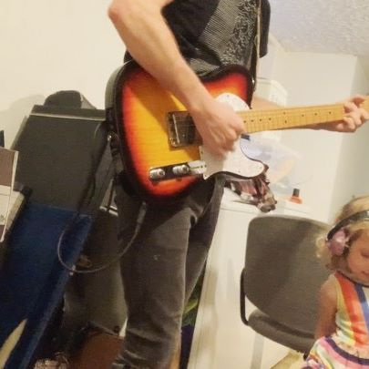 """Not every musician has earned their own dedicated guitar tech. It's a privilege that belongs to the likes of The Edge and me and only after years of dedication (or should I say """"shredication""""). Mine is still learning the ropes of my rig but showing a lot of promise. She even offers sage feedback (watch til the end). #RigsOfDad  For real tho, loving that I FINALLY got to noodle on my #Thinline since @glundstromlives set it up! 🙏🔥"""