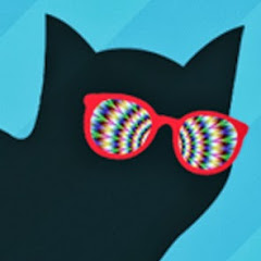 Funky Black Cat