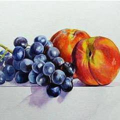 Мой сад. Персики и виноград.