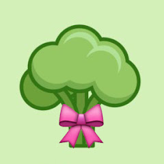 Broccoli with a ribbon