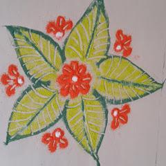 Simple Rangoli by Priya