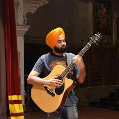 Sardar with a guitar