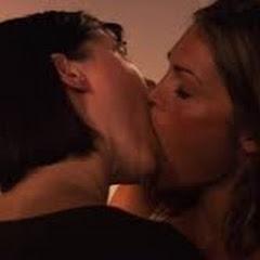 Lesbians kissing